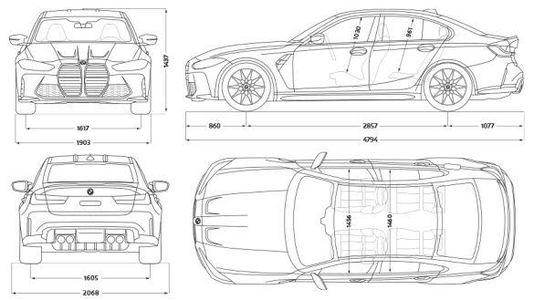 Technische Daten BMW 3er Limousine M