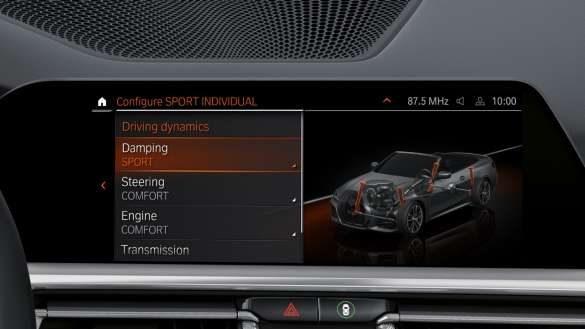 BMW M440i xDrive Cabrio Fahwerk-Anzeige