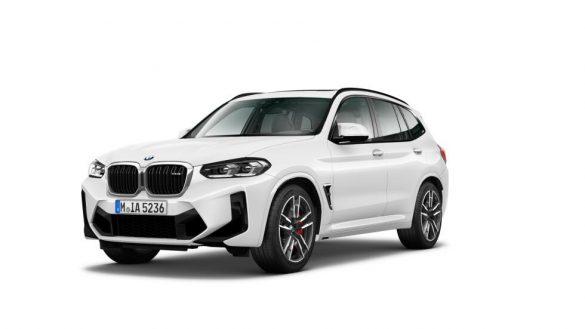 BMW X3 M F97 LCI Facelift 2021 Alpinweiß Dreiviertel-Frontansicht