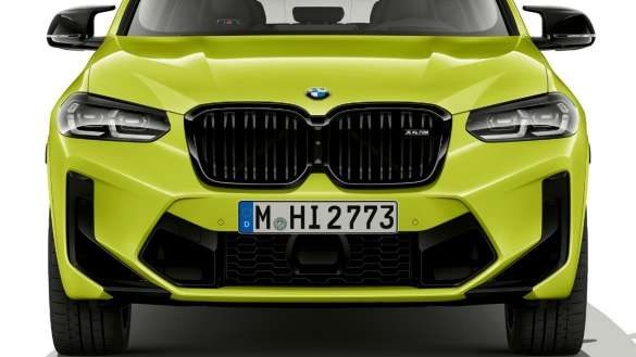 BMW X4 M Competition F98 LCI Facelift 2021 Sao Paulo Gelb Frontdesign Frontansicht