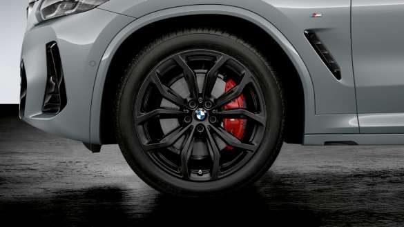 """BMW X4 G02 20"""" BMW Leichtmetallrad Y-Speiche 695 Jet Black matt, Sommer-Komplettradsatz 2021"""